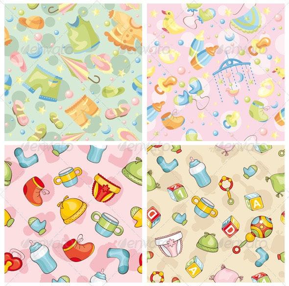 Seamless Baby Patterns - Patterns Decorative