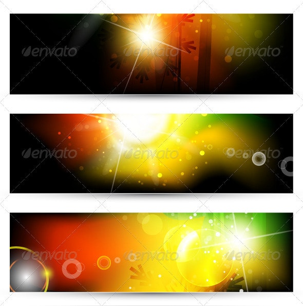 Shiny Vector Banners - Nature Conceptual