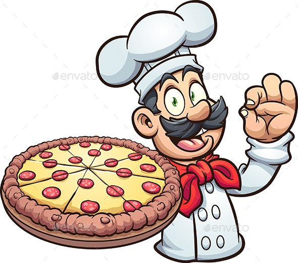 Pizza Chef - People Characters