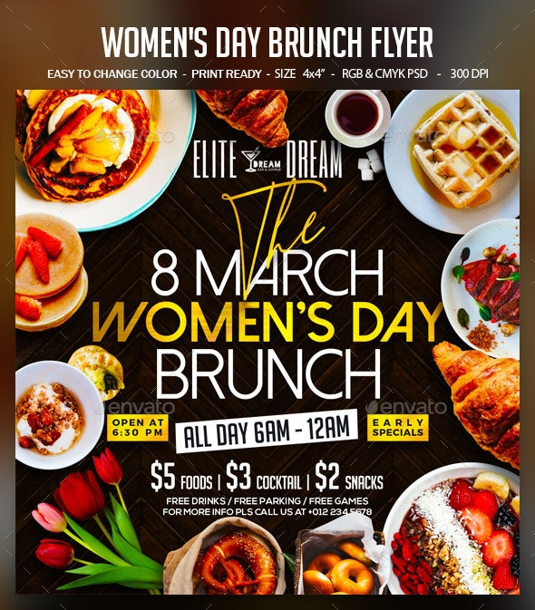 Women's Day Brunch Flyer Template - Events Flyers