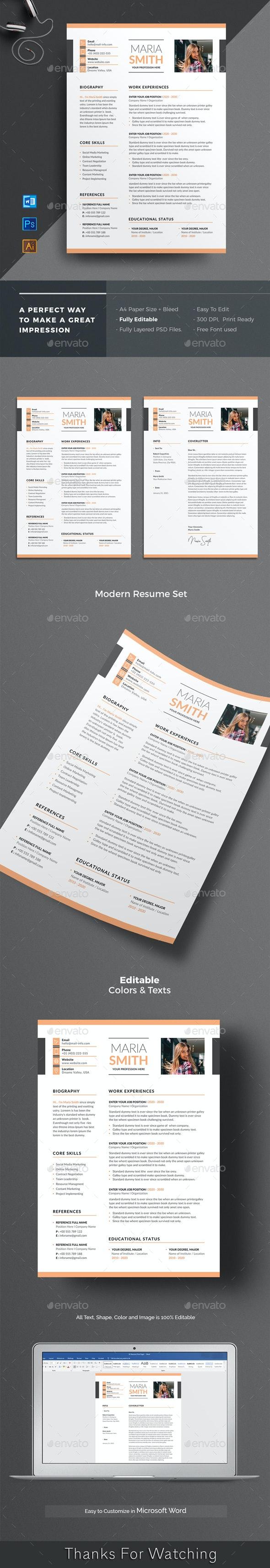 Modern Resume Word - Resumes Stationery
