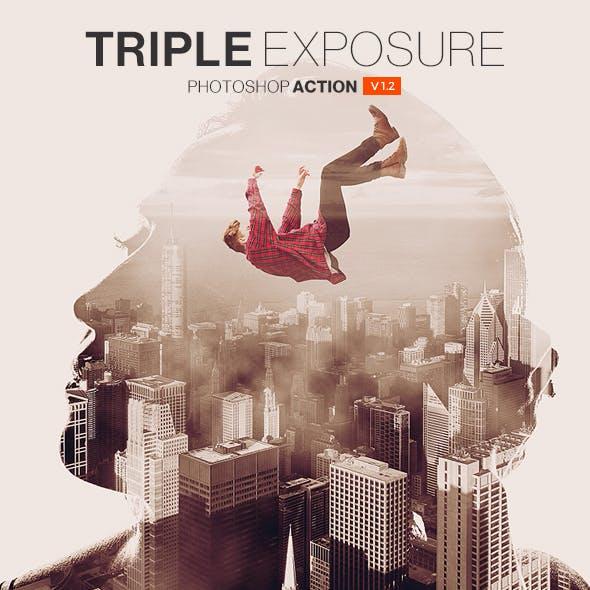 Triple Exposure Photoshop Action