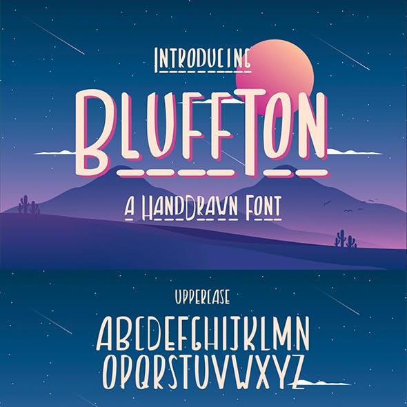 Bluffton – Decorative Hand Drawn Font