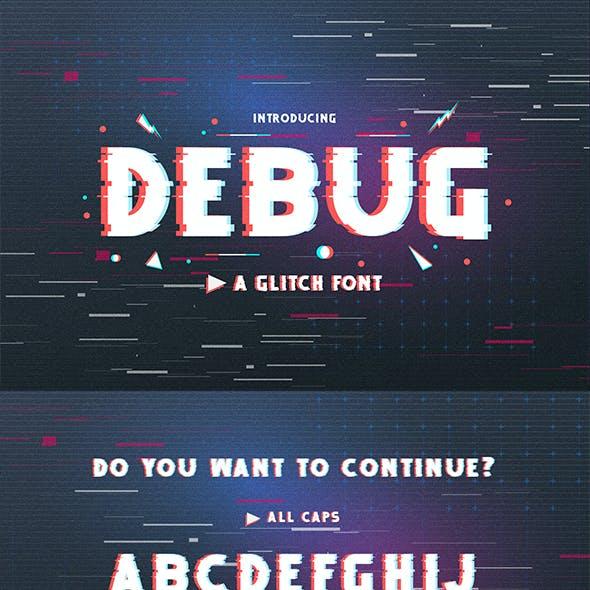 Debug – Uppercase Glitch Font