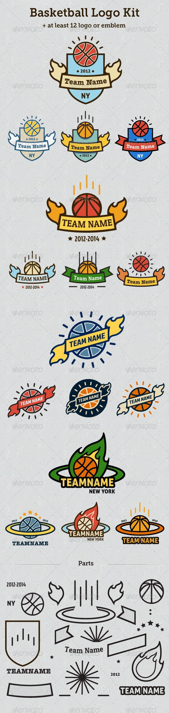 Basketball Logo Kit - Objects Logo Templates