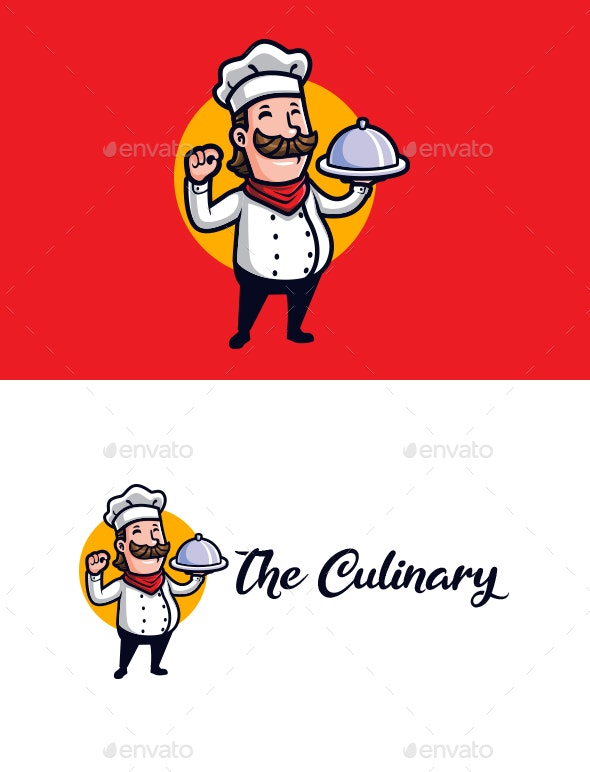 The Culinary - Chef Mascot Logo - Food Logo Templates