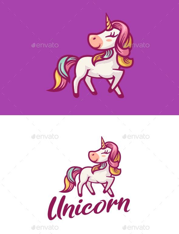 Unicorn Mascot Logo - Animals Logo Templates