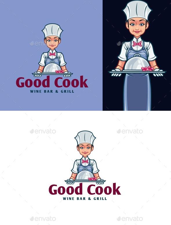 Cartoon Waiters Mascot Logo - Humans Logo Templates