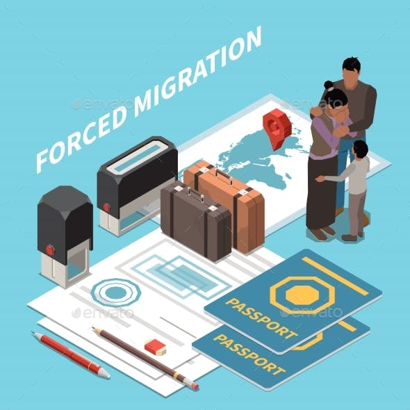 Isometric Forced Migration Composition