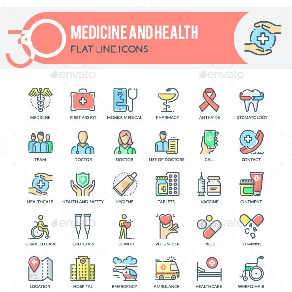 Medicine and Health Icons