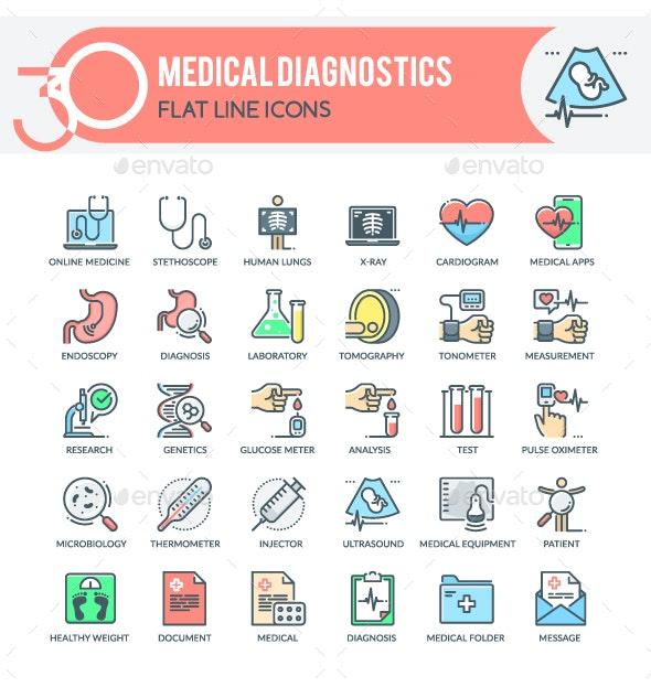 Medical Diagnostics Icons - Miscellaneous Icons