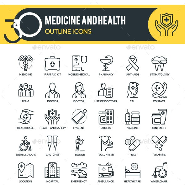 Medicine Outline Icons