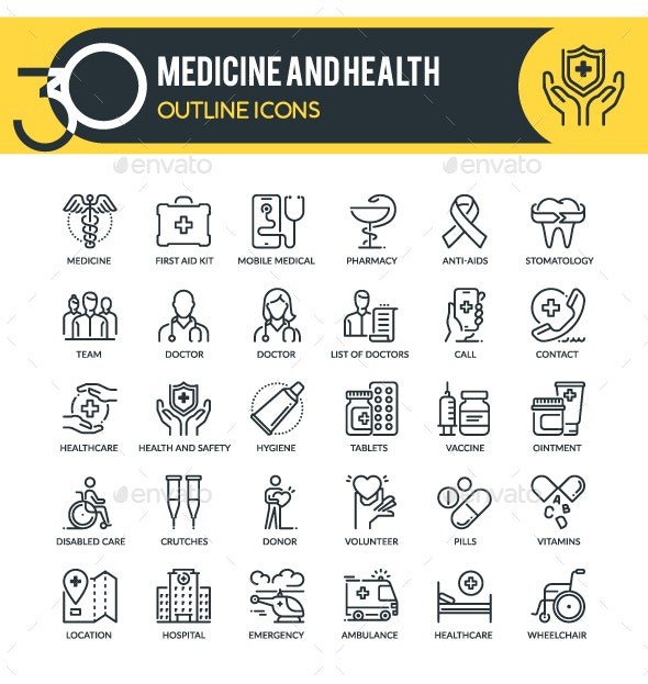Medicine Outline Icons - Miscellaneous Icons