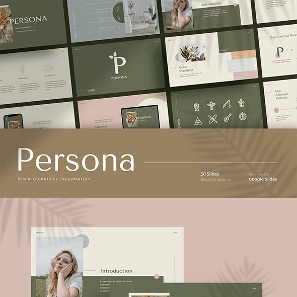 Persona - Brand Guideline Google Slides Template