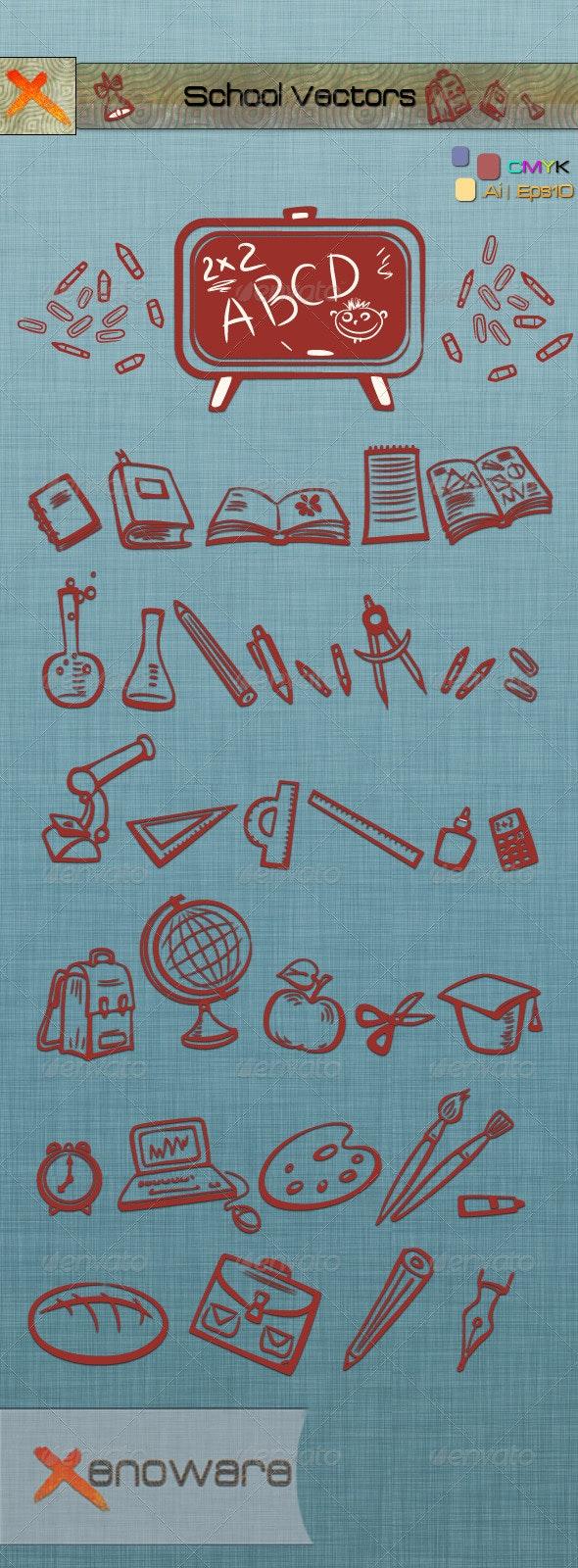 School Vectors - Objects Vectors
