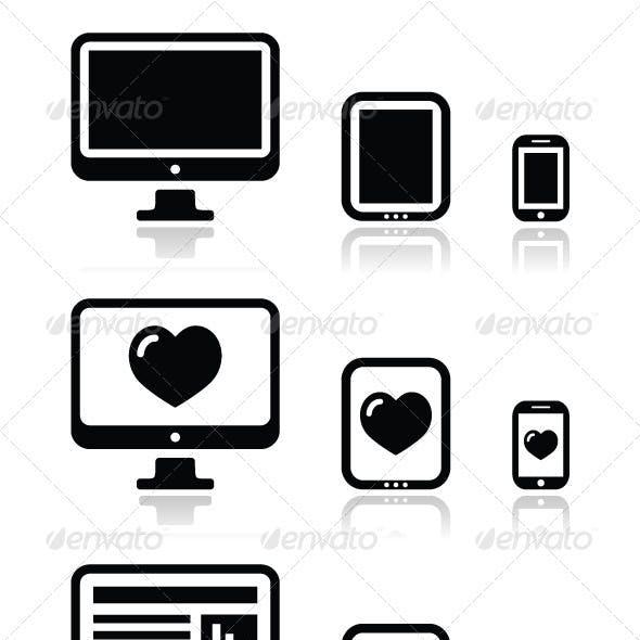 Responsive website design - screens