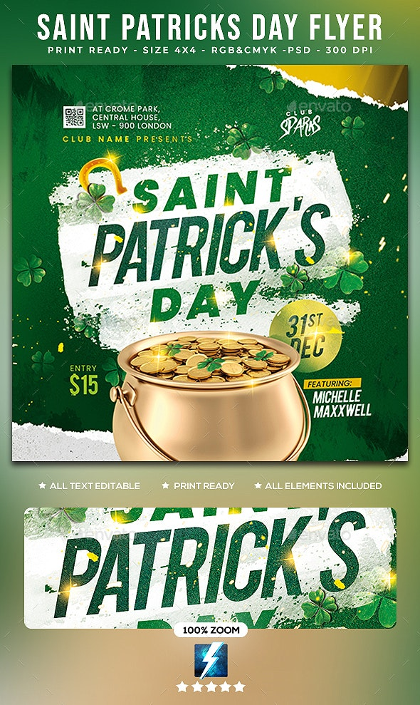 Saint Patricks Day Flyer - Clubs & Parties Events