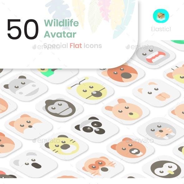 Wildlife Avatar Flat Icons