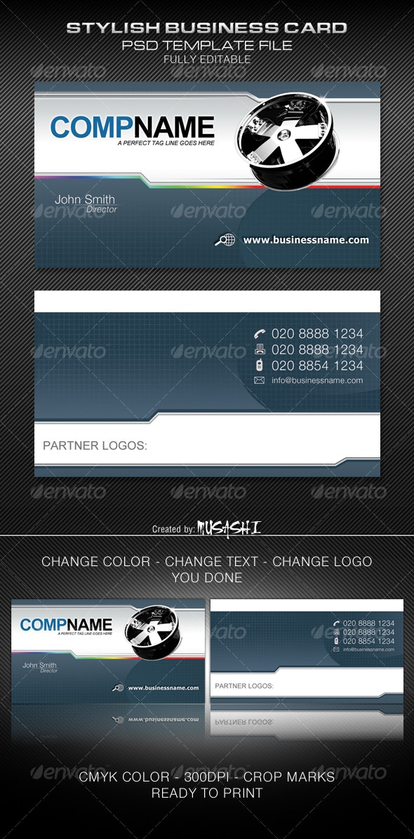 Stylish Business Card - Industry Specific Business Cards