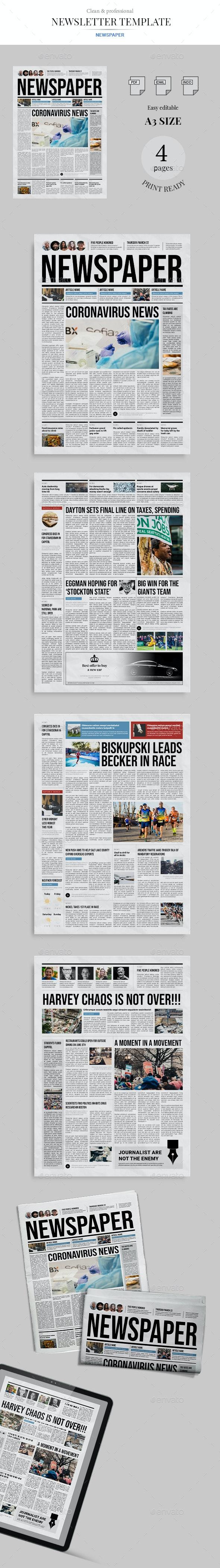 NewsPaper - Newsletters Print Templates