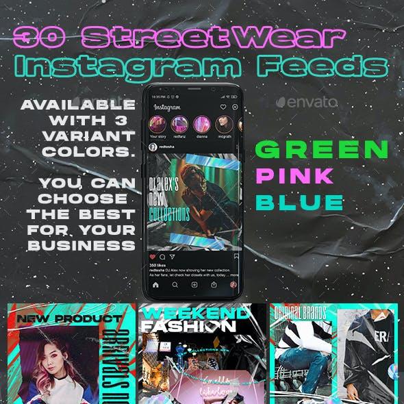Street Fashion Instagram Feed Design