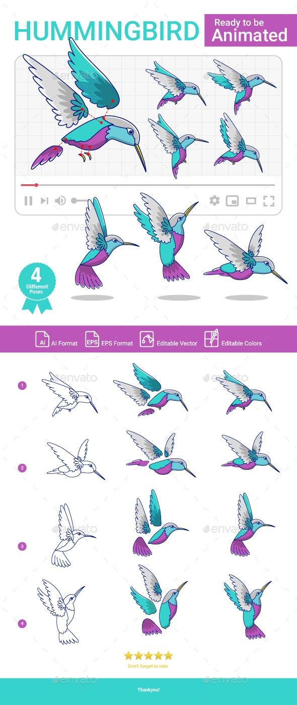 Hummingbird Cartoon - Animals Characters