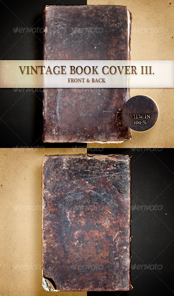 Vintage Book Cover III - Home & Office Isolated Objects