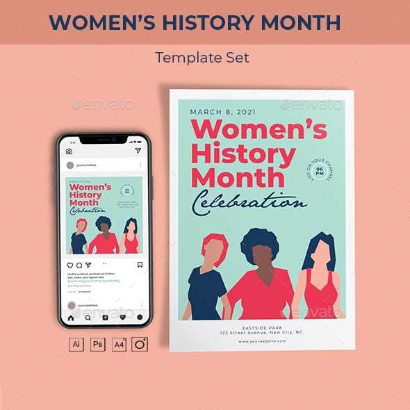 Women's History Month Template Set