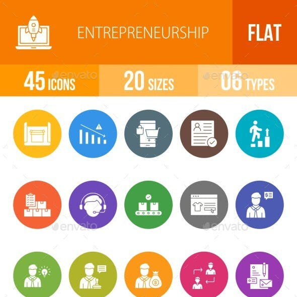 Entrepreneurship Filled Circle Icons