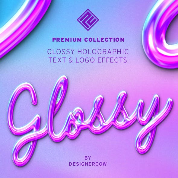 Glossy Holographic Text & Logo Effects - Collection
