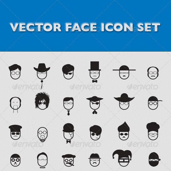 Vector Face Icon Set