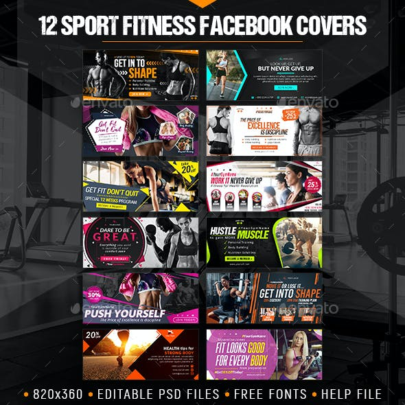 12 Facebook Sport Fitness Covers