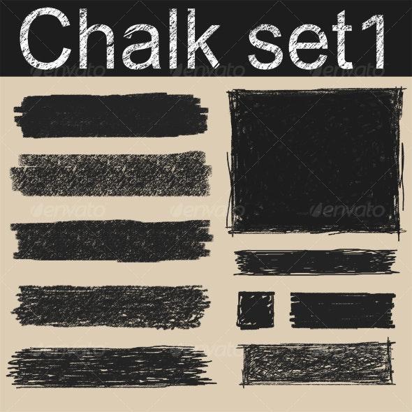 Chalk Elements - Backgrounds Decorative