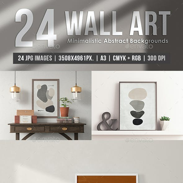 Wall Art Minimalistic Abstract Backgrounds