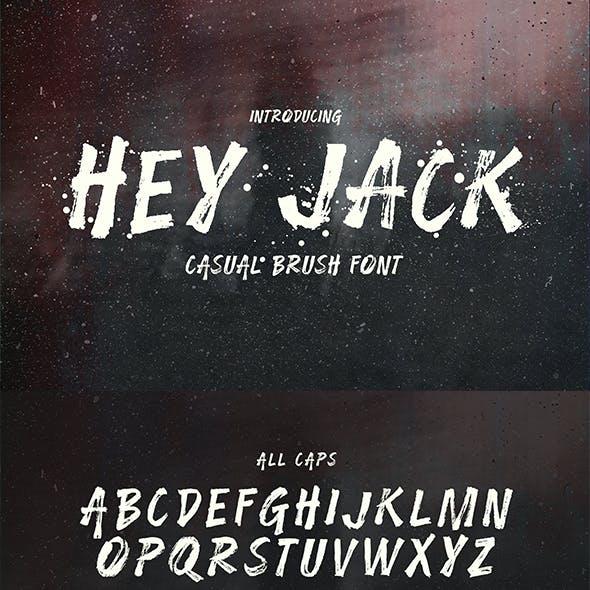 Hey Jack - Casual Brush Font