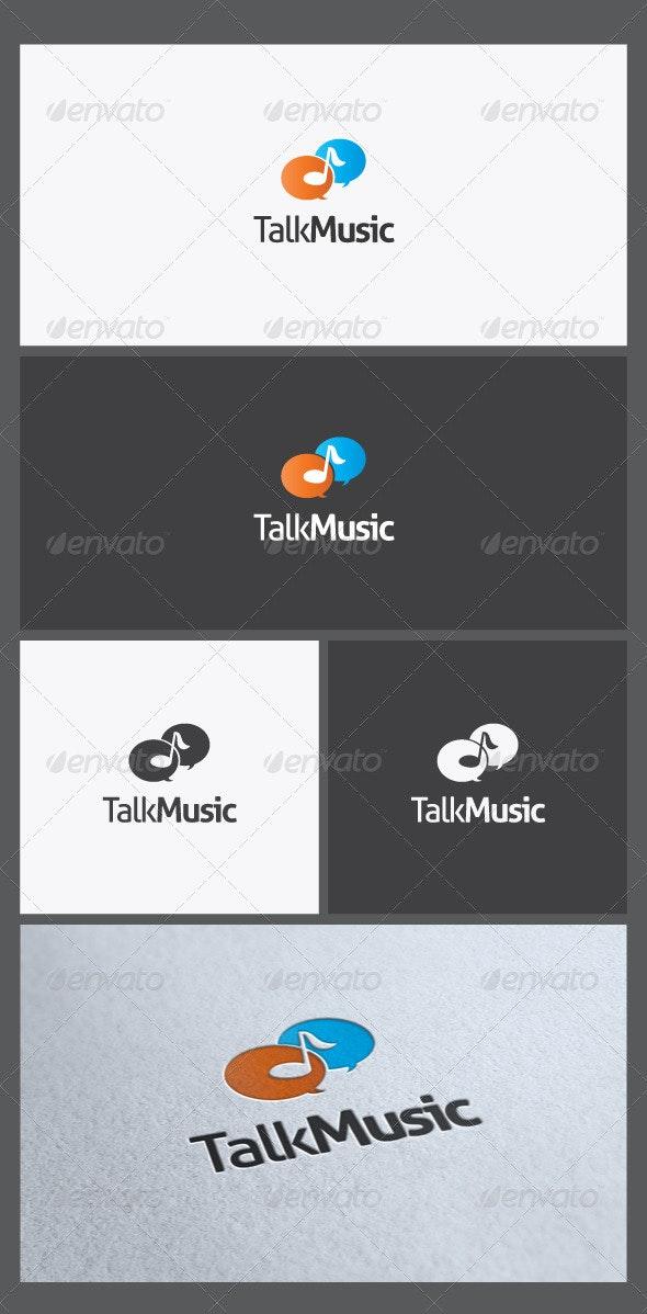 Talk Music Logo Template - Symbols Logo Templates