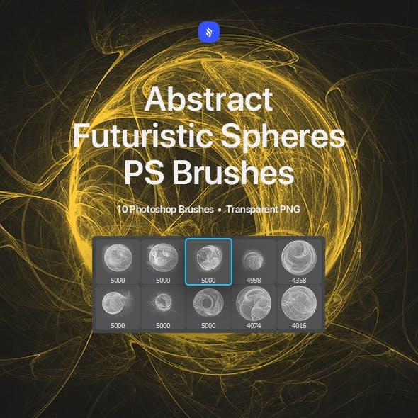 Futuristic Spheres Photoshop Brushes