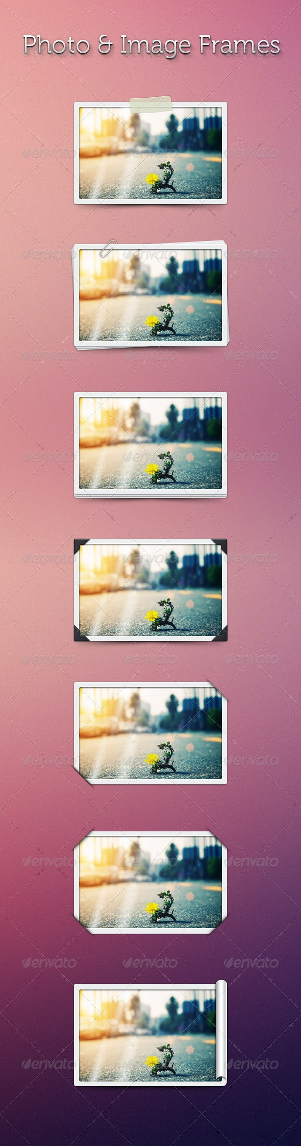 Photo & Image Frames - Sliders & Features Web Elements
