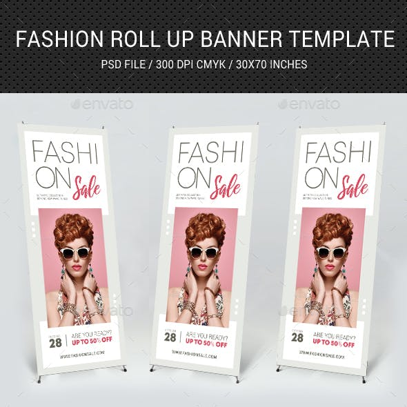 Fashion Sale Roll-Up Banner