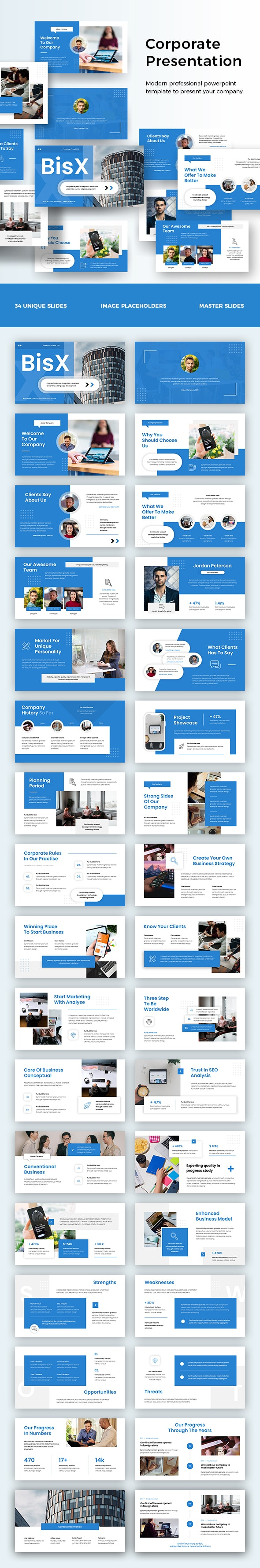 Corporate Business Powerpoint Presentation - Business PowerPoint Templates