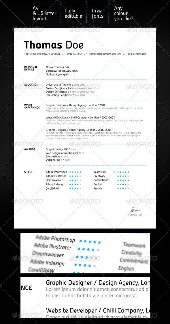 Clean & Elegant Resume - Resumes Stationery