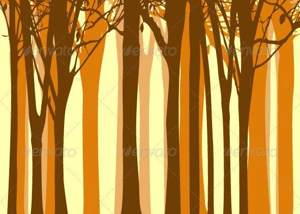 Autumn Tree Background - Backgrounds Decorative
