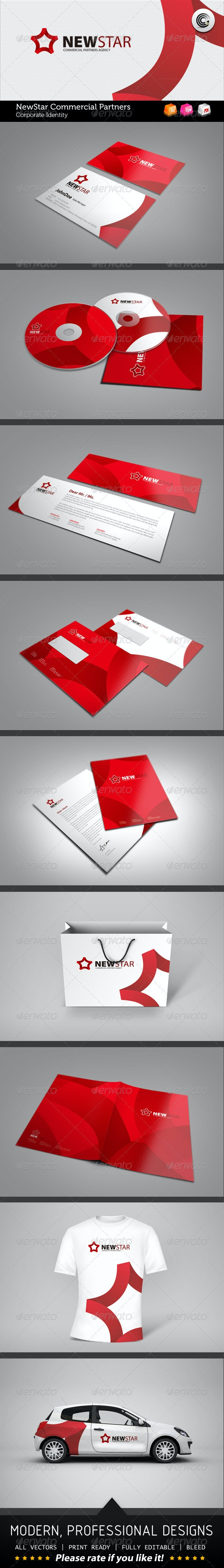 New Star Commercial Partners Corporate Identity - Stationery Print Templates