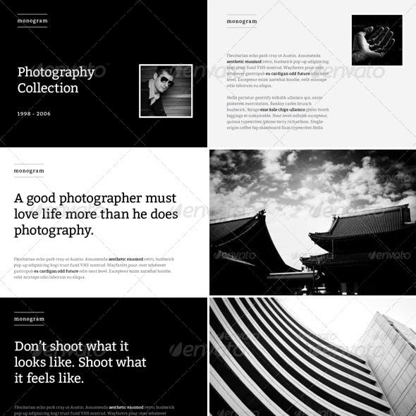 Monogram - Photo Album or Folio Template