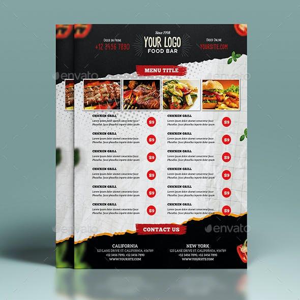 Restaurant Food Menu Flyer