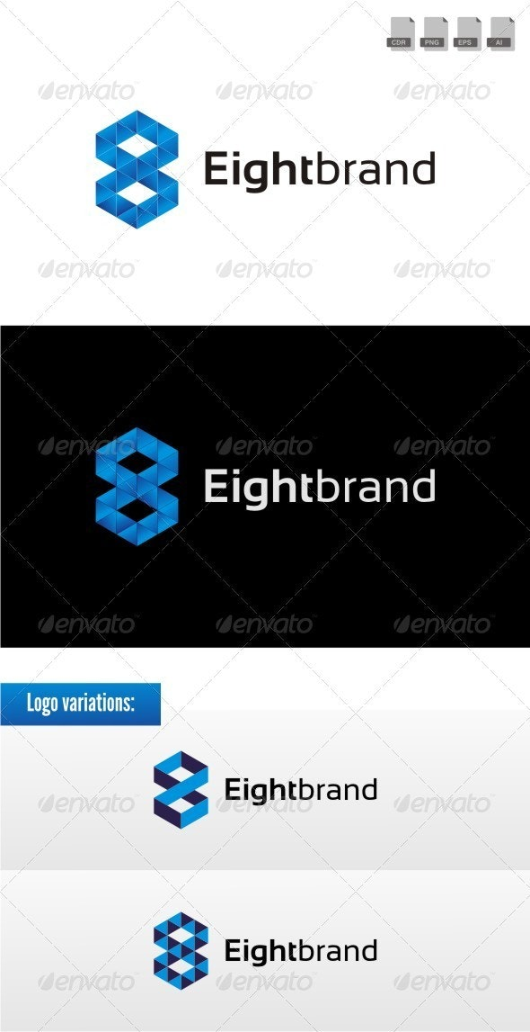 Eight Brand - Numbers Logo Templates