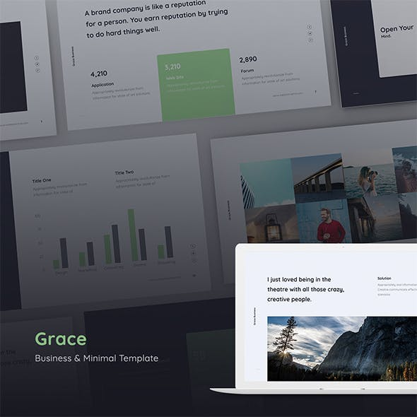 Grace - Minimal & Business Template (GOOGLE SLIDES)
