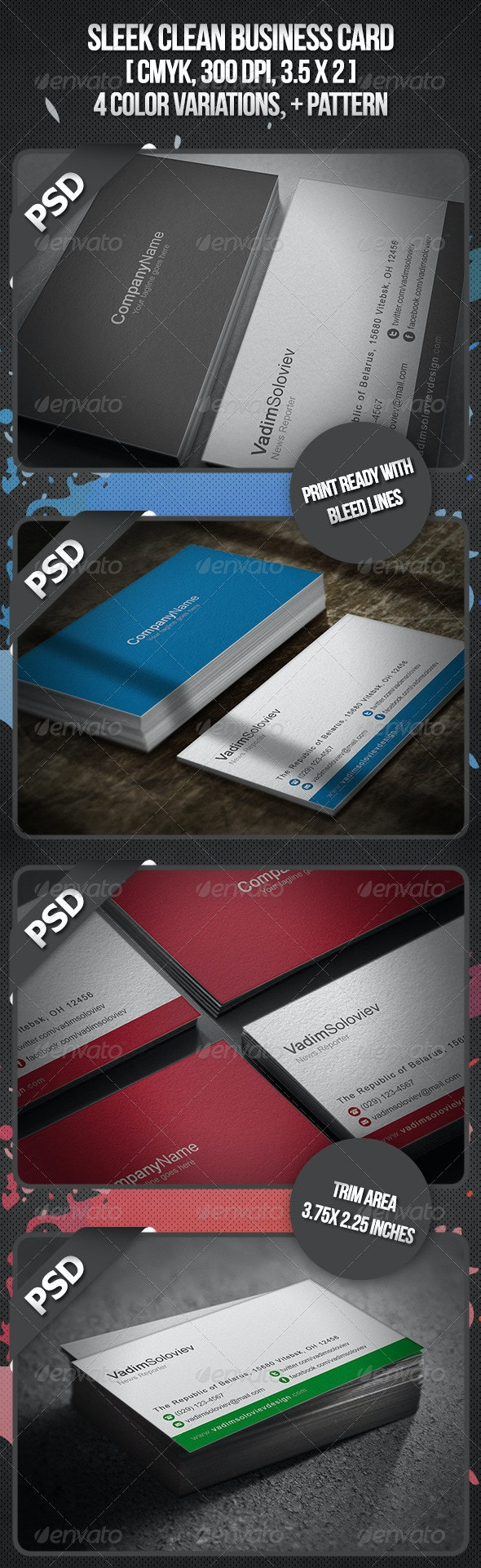 Sleek Business Card - Corporate Business Cards
