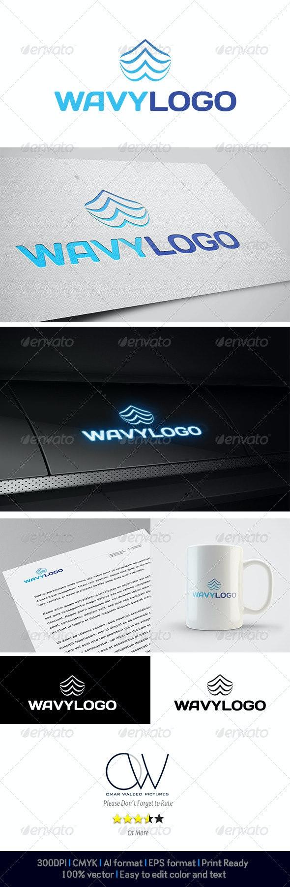 Wavy Logo - Abstract Logo Templates