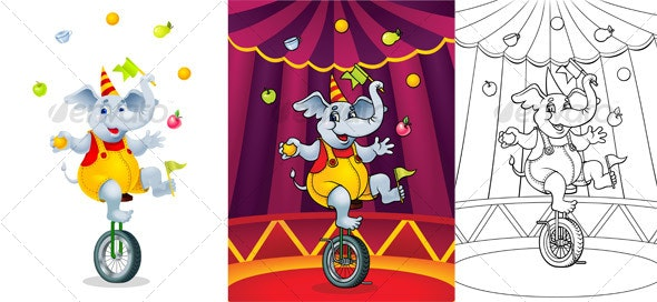 Circus elephant - Animals Characters